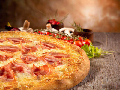 Serres Delivery Mamma`s Pizza Μπέικον yummy
