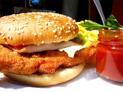 Serres Delivery Mamma`s Pizza Chicken burger